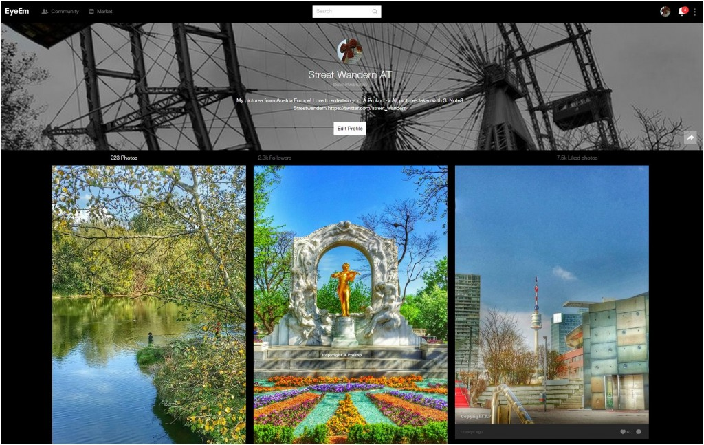 Streetwandern Eyeem 2.300 Follower
